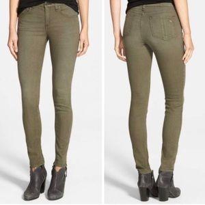 Rag & Bone Green Skinny Jeans, Size 27